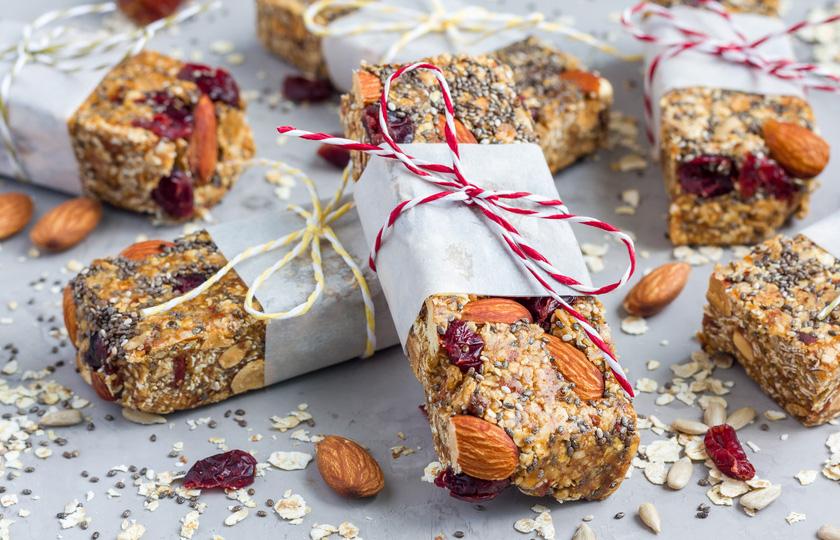 Chia Riegel mit Cranberrys Rezept