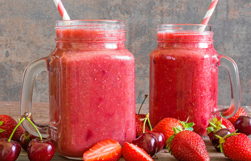 Chia Smoothie mit Erdbeeren Rezept
