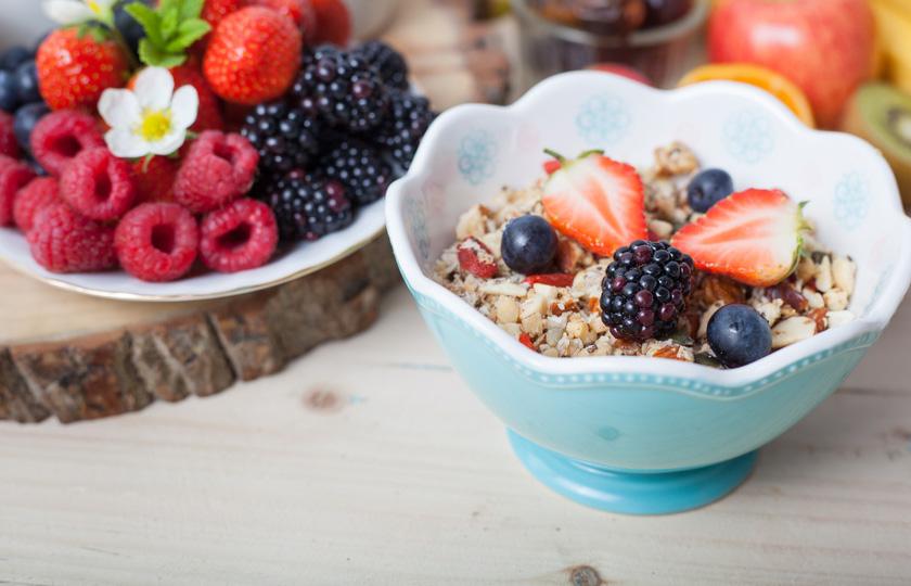 Chia Samen Crunch-Müsli
